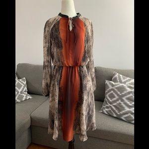 Nine WEst Snake Skin Print Midi Dress